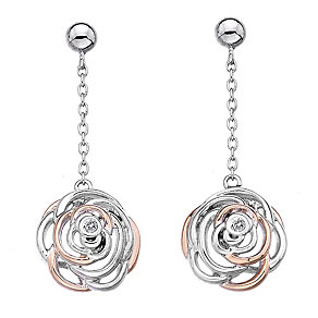Hot Diamonds Eternal Rose Two Colour Drop Earrings - Product number 1998366