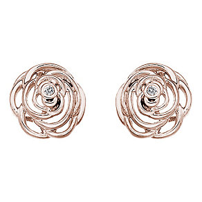 Hot Diamonds Eternal Rose Rose Gold-Plated Stud Earrings - Product number 1998374