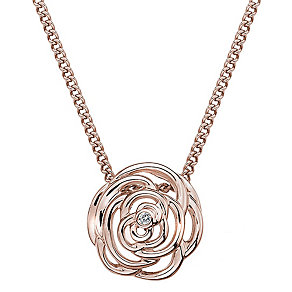 Hot Diamonds Eternal Rose Rose Gold-Plated Necklace - Product number 1998390