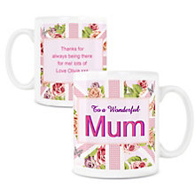 Personalised Mug - Floral Union Jack Design - Product number 1998455