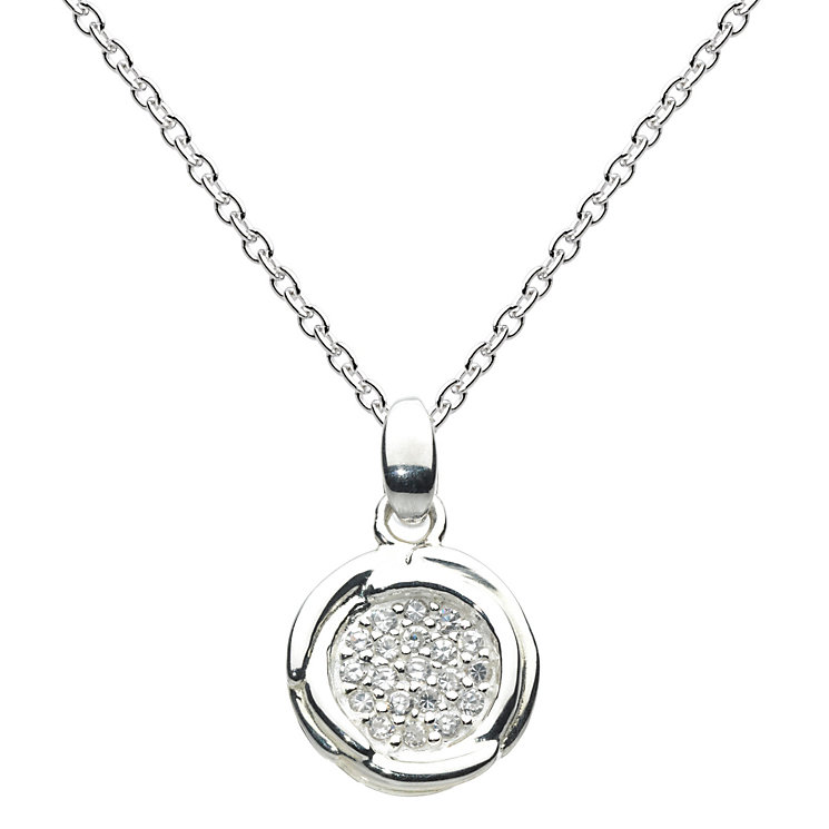 Kit Heath Glistening Cocoon Silver & Cubic Zirconia Pendant - Product number 1998757