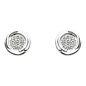 Kit Heath Glistening Cocoon Silver Cubic Zirconia Earrings - Product number 1998765