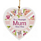 Personalised Heart Decoration- Floral Union Jack Design - Product number 1998870