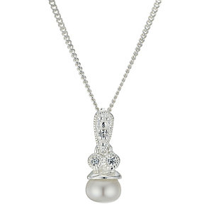 Sterling Silver Cultured Freshwater Pearl Vintage Pendant - Product number 1999419