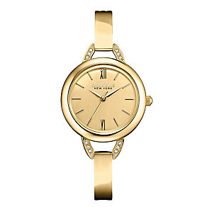 Caravelle New York Ladies' Gold-Plated Bangle Watch - Product number 2001020