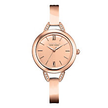 Caravelle New York Ladies' Rose Gold-Plated Bangle Watch - Product number 2001063