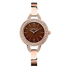 Caravelle New York Ladies' Rose Gold-Plated Bangle Watch - Product number 2001098