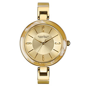 Caravelle New York Ladies' Gold-Plated Bracelet Watch - Product number 2001225