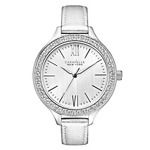 Caravelle New York Ladies' Silver Metallic Strap Watch - Product number 2001330