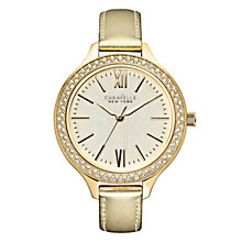 Caravelle New York Ladies' Gold Metallic Strap Watch - Product number 2001373