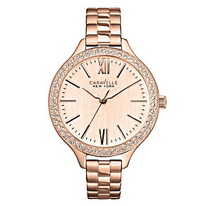 Caravelle New York Ladies' Rose Gold-Plated Bracelet Watch - Product number 2001438