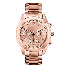 Caravelle New York Ladies' Rose Gold-Plated Bracelet Watch - Product number 2001624