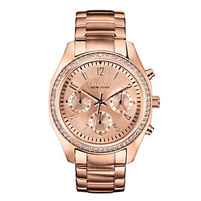 Caravelle New York Ladies' Rose Gold-Plated Bracelet Watch - Product number 2001640