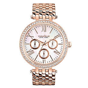 Caravelle New York Ladies' Gold-Plated Bracelet Watch - Product number 2001713