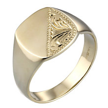 Men's 9ct Gold Signet Ring - Product number 2001985
