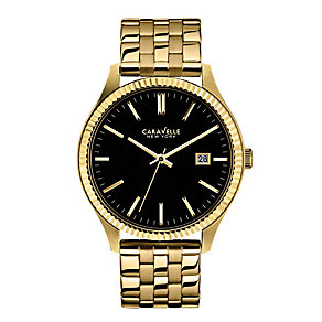 Caravelle New York Men's Gold-Plated Bracelet Watch - Product number 2002205