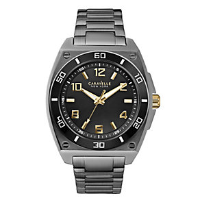 Caravelle New York Men's Black Ion-Plated Bracelet Watch - Product number 2002434