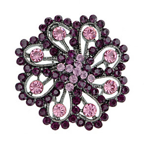 Red and Purple Flower Brooch - Product number 2004615