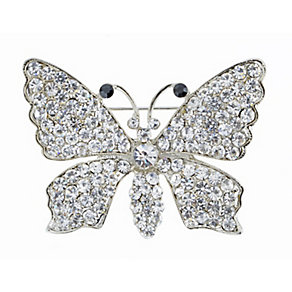 Crystal Set Butterfly Brooch - Product number 2004682