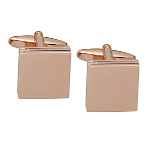 Rose Gold & Rhodium-Plated Triple Square Cufflinks - Product number 2005344