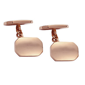 Rose Gold-Plated Chain Detail Cufflinks - Product number 2005360