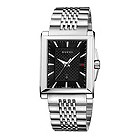 Gucci men's rectangular dial stainless steel bracelet watch - Product number 2007312