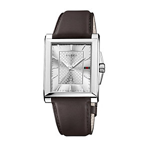 Gucci G-Timeless men's stainless steel brown strap watch - Product number 2007347