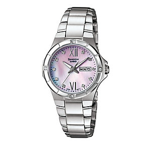 Casio Sheen Ladies' Stainless Steel Bracelet Watch - Product number 2008920