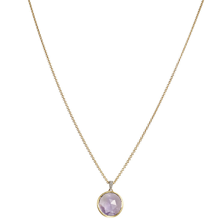 Marco Bicego Delicati 18ct gold amethyst & diamond necklace - Product number 2009692