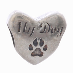 Charmed Memories Sterling Silver 'I Love My Dog' Bead - Product number 2011832