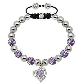 Tresor Paris 8mm lilac crystal heart bracelet - Product number 2012995
