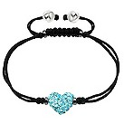 Tresor Paris 8mm light blue crystal heart bracelet - Product number 2013002