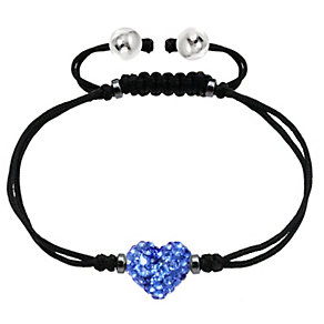 Tresor Paris 8mm dark blue crystal heart bracelet - Product number 2013010