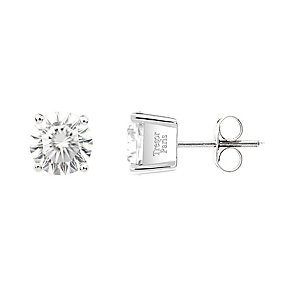 Tresor Paris 18ct white gold-plated 5mm stud earrings - Product number 2013053