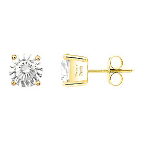 Tresor Paris 18ct yellow gold-plated 5mm stud earrings - Product number 2013118