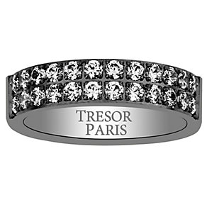 Tresor Paris black stainless steel 5mm ring size L - Product number 2013746