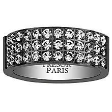 Tresor Paris black stainless steel 8mm ring size L - Product number 2013770