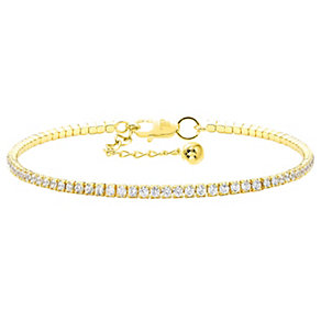 Tresor Paris 18ct gold-plated crystal tennis bracelet - Product number 2014009