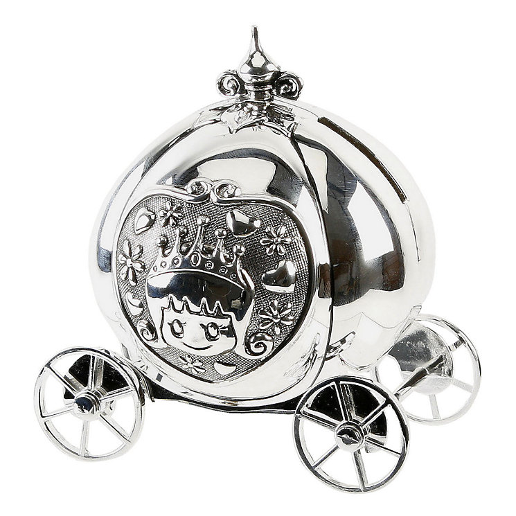 Little Princess Silver-Plated Cinderella Coach Moneybox - Product number 2014068