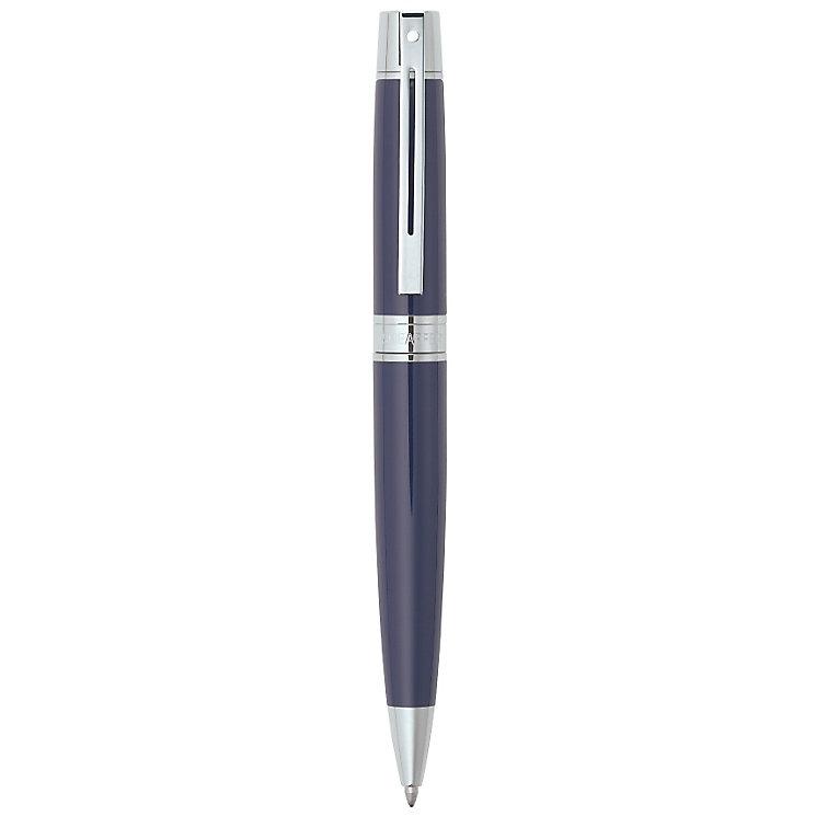 Sheaffer 300 Brushed Blue Gloss & Chrome Ballpoint Pen - Product number 2014726