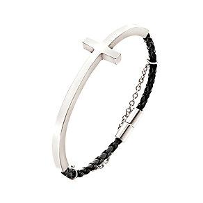 Folli Follie Carma silver-plated & PU leather bracelet - Product number 2015137