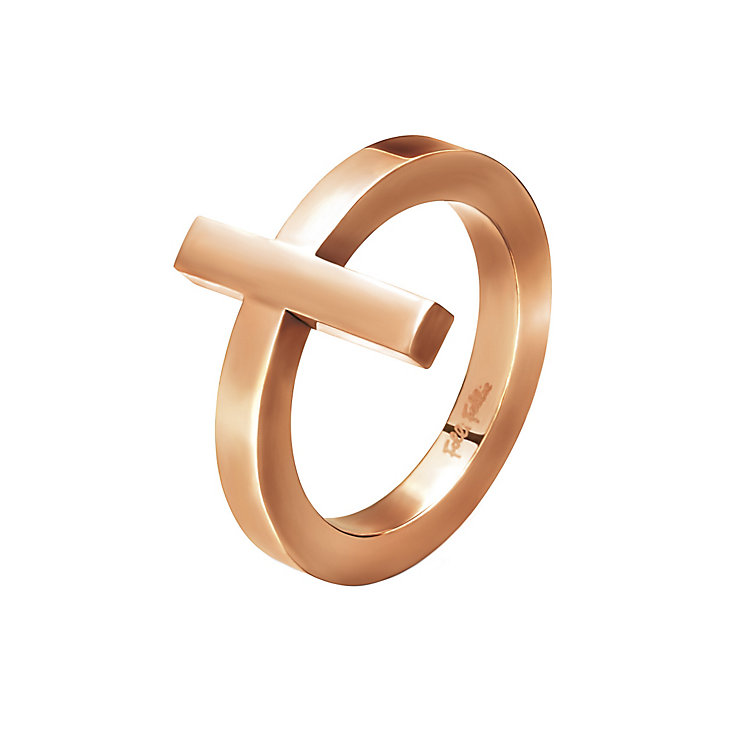 Folli Follie Carma rose gold-plated ring size O 1/2 - Product number 2015277