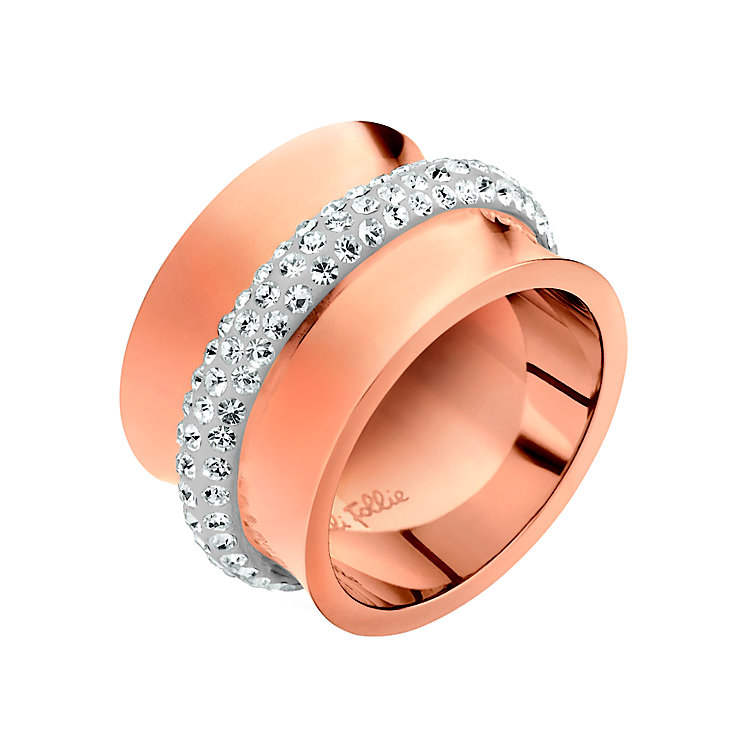 Folli Follie Dazzling rose gold-plated ring size N - Product number 2015374