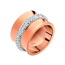 Folli Follie Dazzling rose gold-plated ring size O 1/2 - Product number 2015382