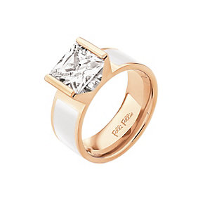 Folli Follie Colourful rose gold-plated ring size L 1/2 - Product number 2015439