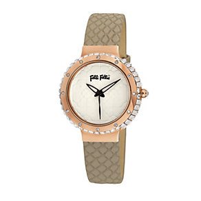 Folli Follie Heart4Heart ladies' brown leather strap watch - Product number 2015455