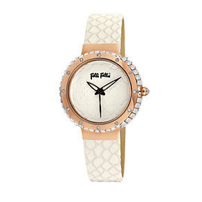 Folli Follie Heart4Heart ladies' white leather strap watch - Product number 2015463