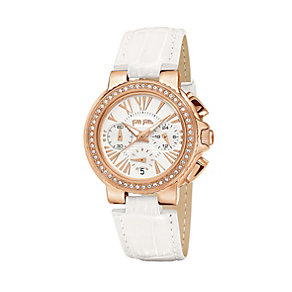 Folli Follie Watchalicious ladies' white leather strap watch - Product number 2015471