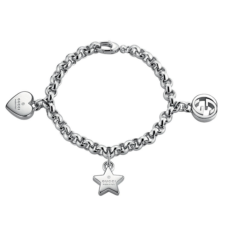 Gucci Trademark sterling silver 3 charm bracelet - Product number 2016192