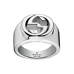 Gucci sterling silver interlocking 'G' motif ring - Product number 2016214